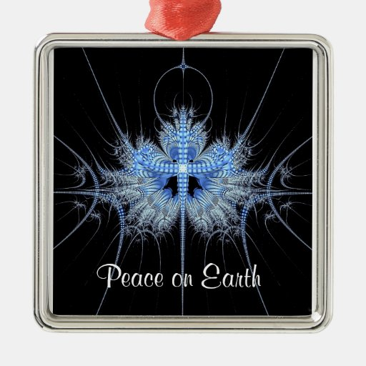 Peace on Earth Fractal Ornament Square