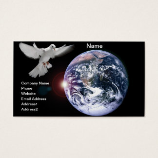 Peace on Earth full color business card photograph