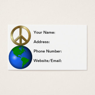 Peace On Earth Fun Rebus Holiday Greeting Business Card