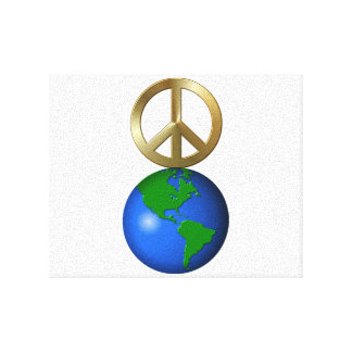 Peace On Earth Fun Rebus Holiday Greeting Canvas Print