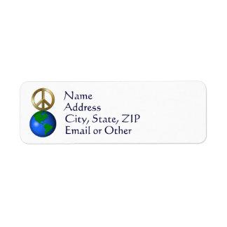 Peace On Earth Fun Rebus Holiday Greeting Return Address Label