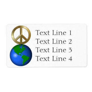 Peace On Earth Fun Rebus Holiday Greeting Shipping Label