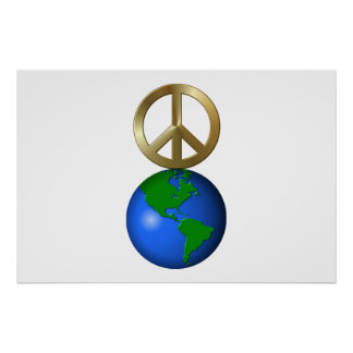 Peace On Earth Fun Rebus Holiday Greeting Poster