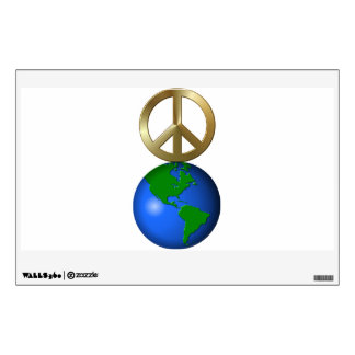 Peace On Earth Fun Rebus Holiday Greeting Wall Sticker