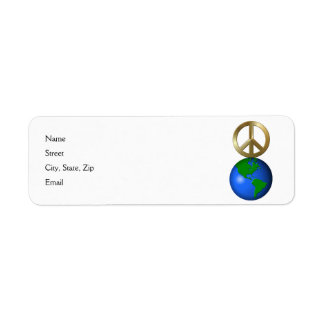 Peace on Earth Fun Rebus Style Word Puzzle Custom Return Address Labels