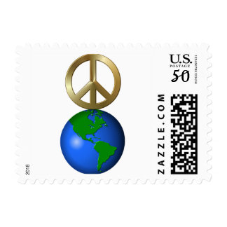 Peace on Earth Fun Rebus Style Word Puzzle Postage