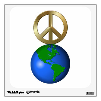 Peace on Earth Fun Rebus Style Word Puzzle Wall Decal
