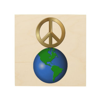 Peace on Earth Fun Rebus Style Word Puzzle Wood Wall Art
