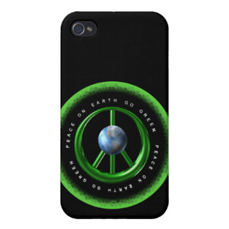 Peace on Earth Go Green by Valxart com iPhone 4 Covers