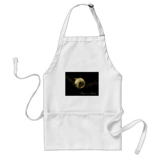 Peace on Earth Gold on Black Adult Apron