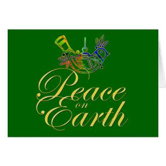 Peace on Earth Good Will Christmas Design Card