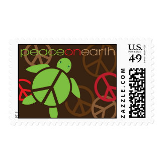 Peace on Earth Happy Honu Holiday Stamp