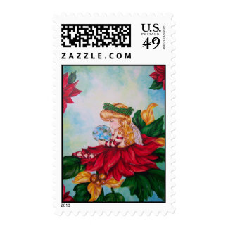 Peace On Earth Holiday Angel Stamp