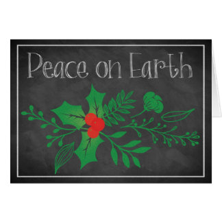 Peace on Earth Holiday Card | Faux Chalkboard