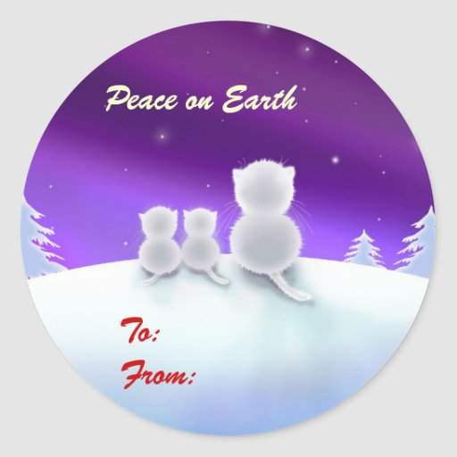 Peace on Earth Holiday Gift Tags Stickers