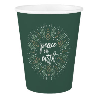 Peace on Earth Holiday Paper Cup