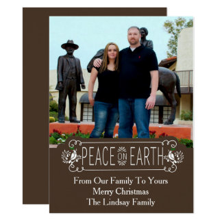 Peace on Earth Holiday Photo Card