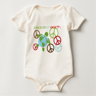 Peace on Earth Honu Holiday Infant Baby Bodysuit