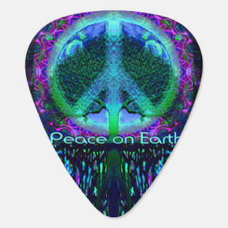 Peace on Earth in Blue and Green Pick