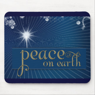 Peace on earth in heavenly peace mousepads