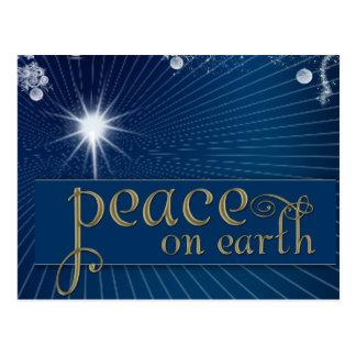Peace on earth ... in heavenly peace postcard