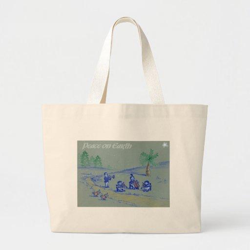 Peace on Earth Jumbo Tote Bag