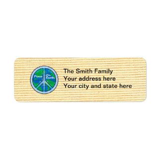 Peace on Earth Return Address Label