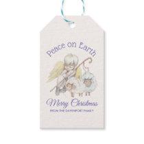 Peace on Earth Merry Christmas Angel Shepherd Gift Tags