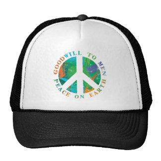 Peace on Earth Mesh Hats