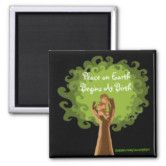 Peace on Earth...midwife 2 Inch Square Magnet