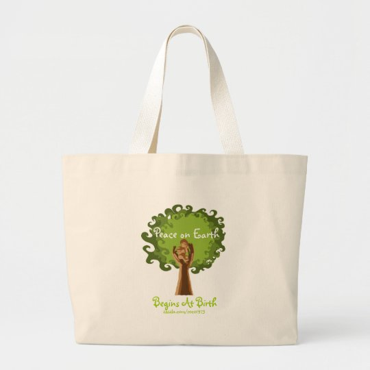 Peace on Earth... midwife Large Tote Bag