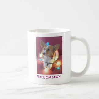 Peace on Earth Classic White Coffee Mug