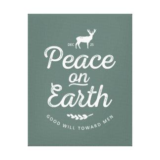 Peace on Earth Nature Christmas Wall Art