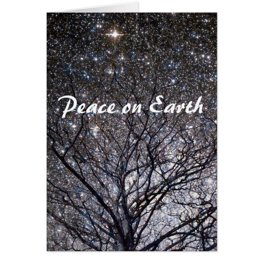 Peace on Earth Nature Stars Christmas Card