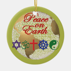 Peace On Earth Ornament at Zazzle