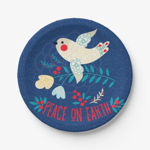 Peace On Earth Paper Plate