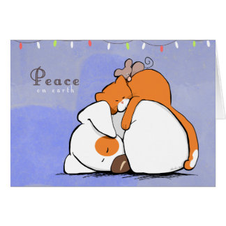 Peace on Earth Patch n Rusty Holiday Greeting Card