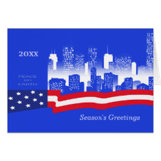 Peace on Earth. Patriotic Design Christmas Cards at Zazzle