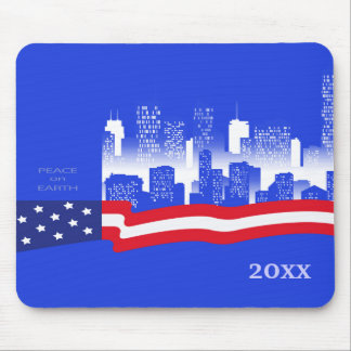 Peace on Earth. Patriotic Design Gift Mousepads Mouse Pads