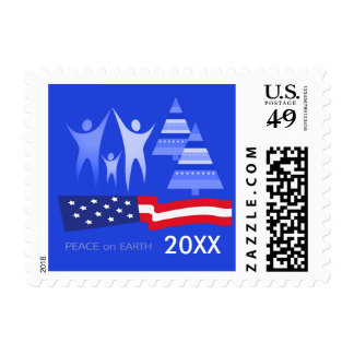 Peace on Earth. Patriotic Design Postage Stamps