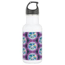 Peace on Earth Pattern Water Bottle