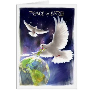 Peace on Earth. Peace Doves Holiday Cards
