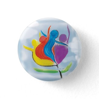 Peace on Earth People in Harmony Button