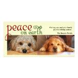 Peace on earth photo card