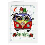 Peace on Earth Pug Christmas Card