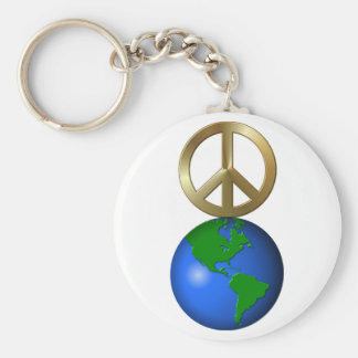 Peace on Earth Rebus Word Puzzle Keychain
