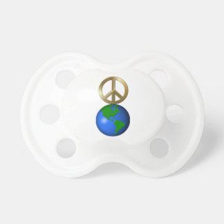 Peace on Earth Rebus Word Puzzle Pacifier