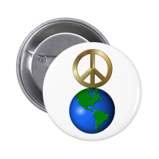 Peace on Earth Rebus Word Puzzle Pinback Button
