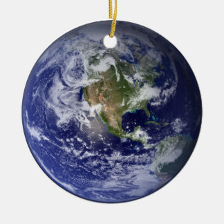 Peace on Earth Round Christmas Ornament