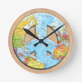 Peace On Earth Round Clock